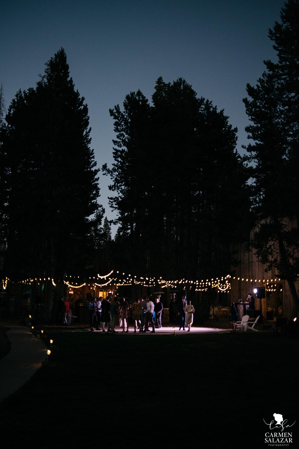 Gorgeous summer outdoor wedding reception in woods - Carmen Salazar