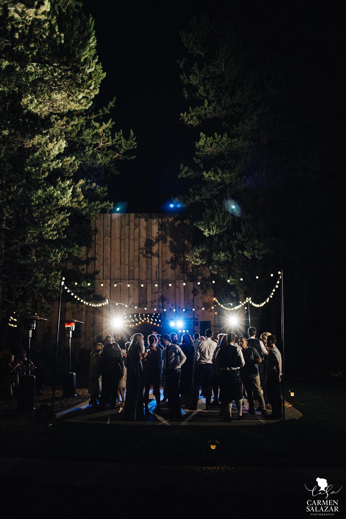 Outdoor wedding dancefloor at The Hideout - Carmen Salazar