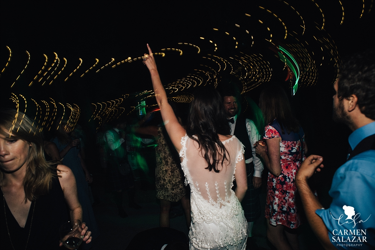Fun bride dancing photos at The Hideout reception - Carmen Salazar