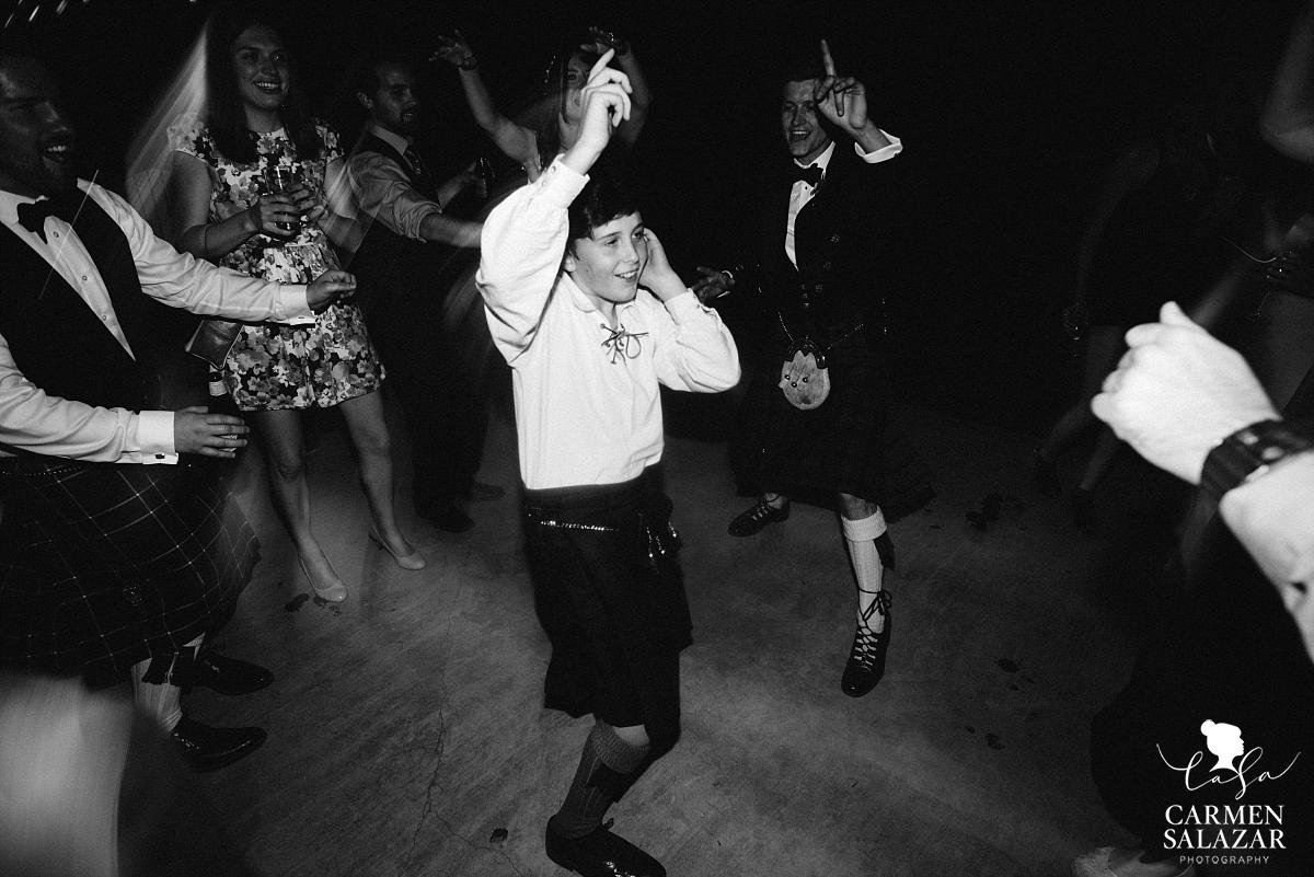 Adorable Scottish boy dancing at The Hideout - Carmen Salazar