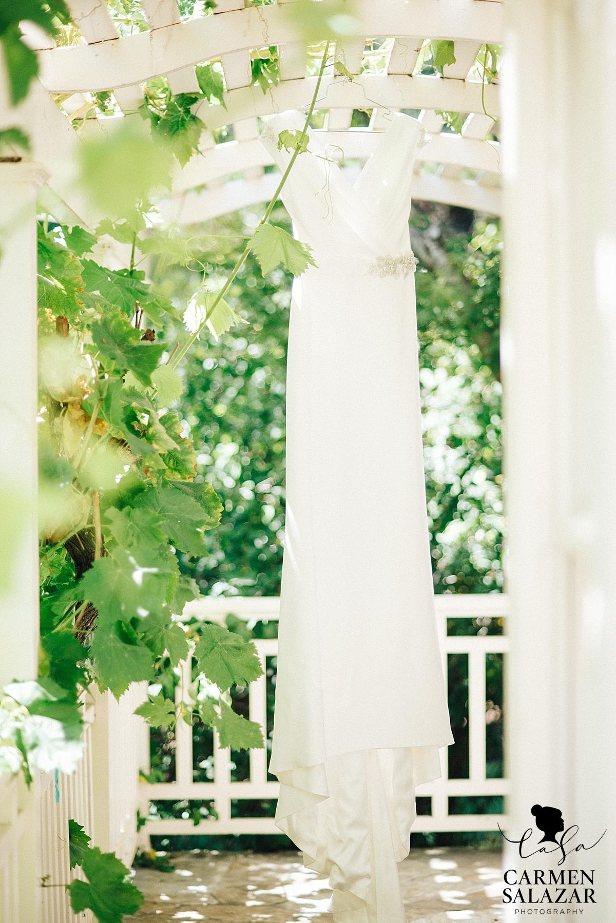 Stunning modern SF boutique white wedding gown - Carmen Salazar