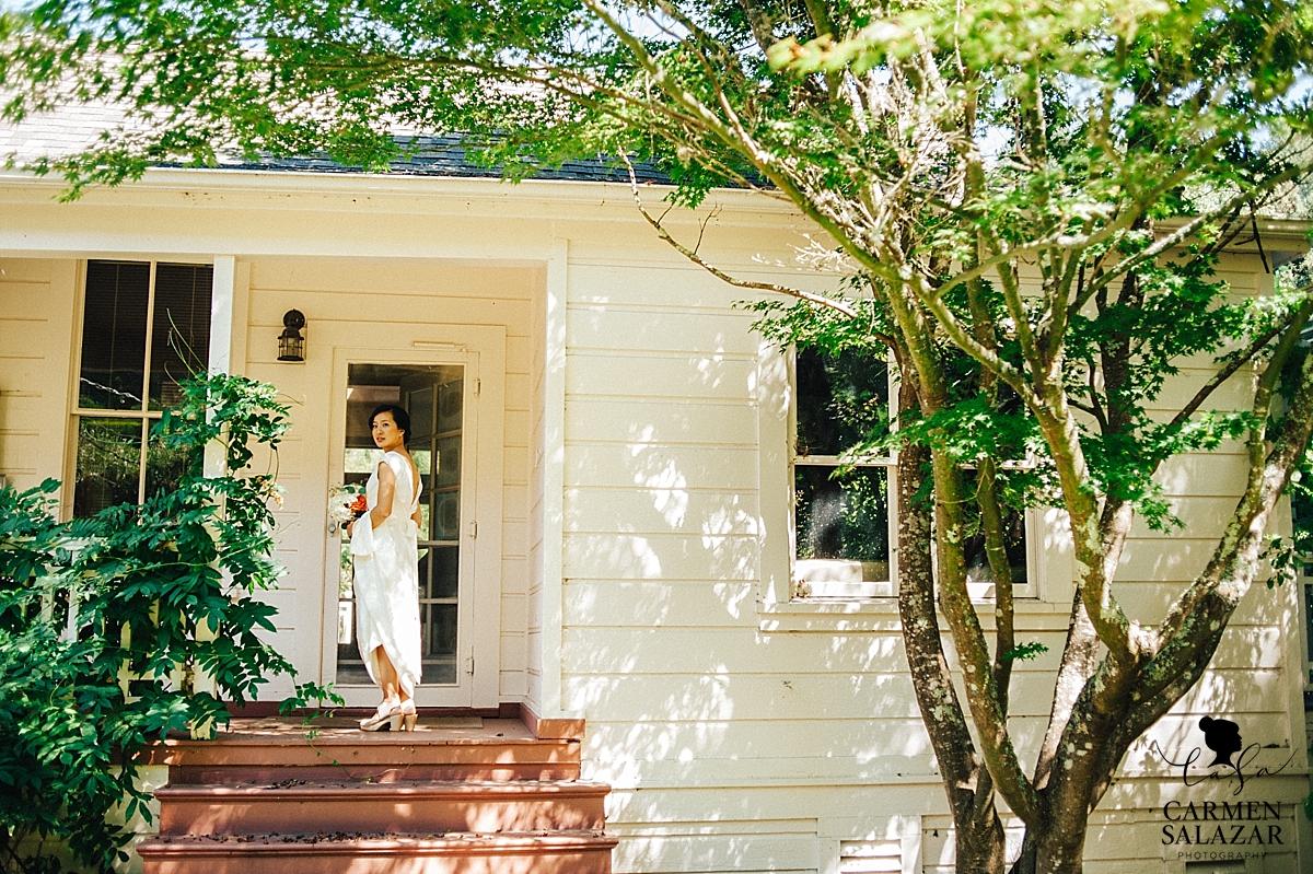 Modern beauty bride at Santa Cruz estate - Carmen Salazar