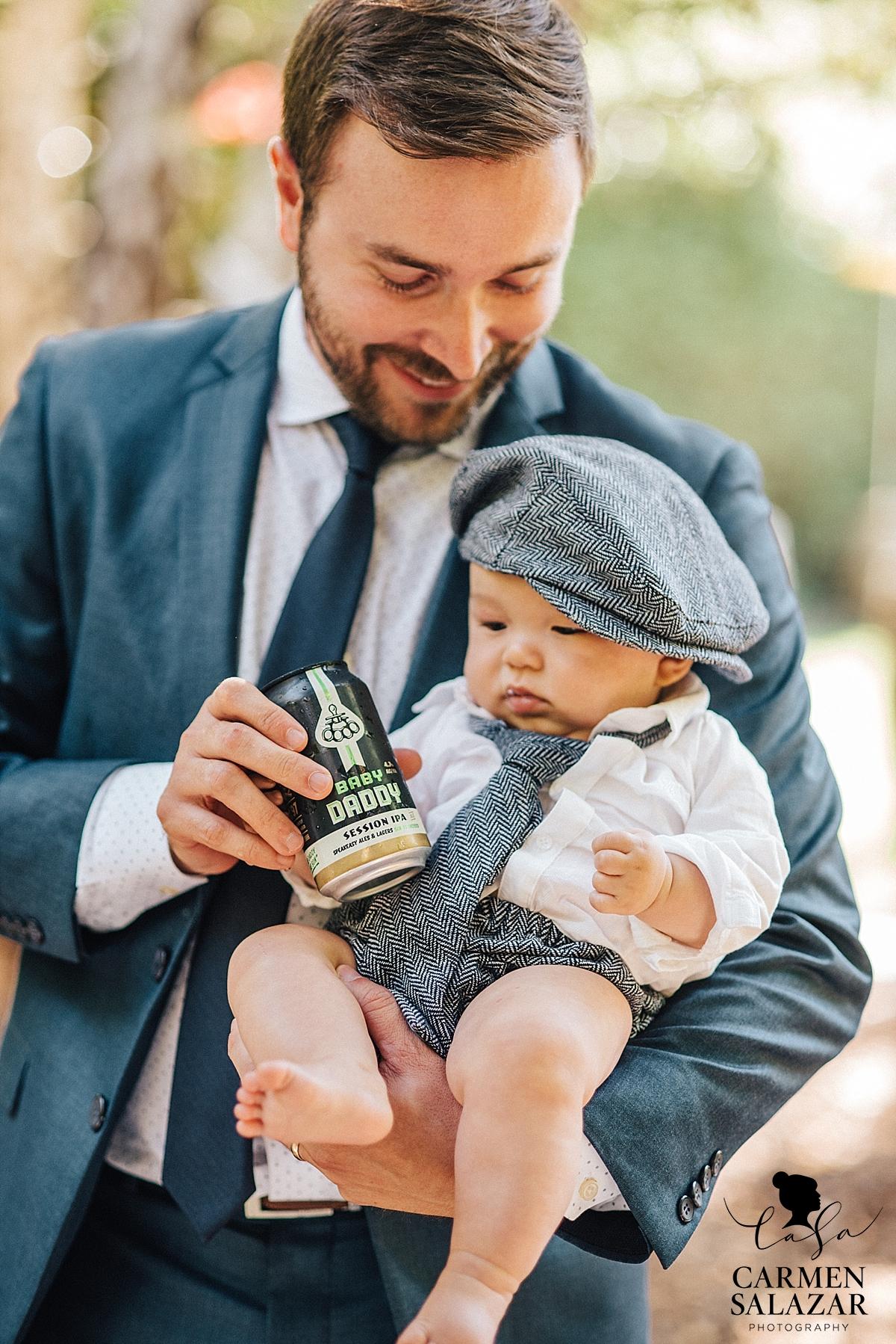 Adorable baby wedding fashion - Carmen Salazar
