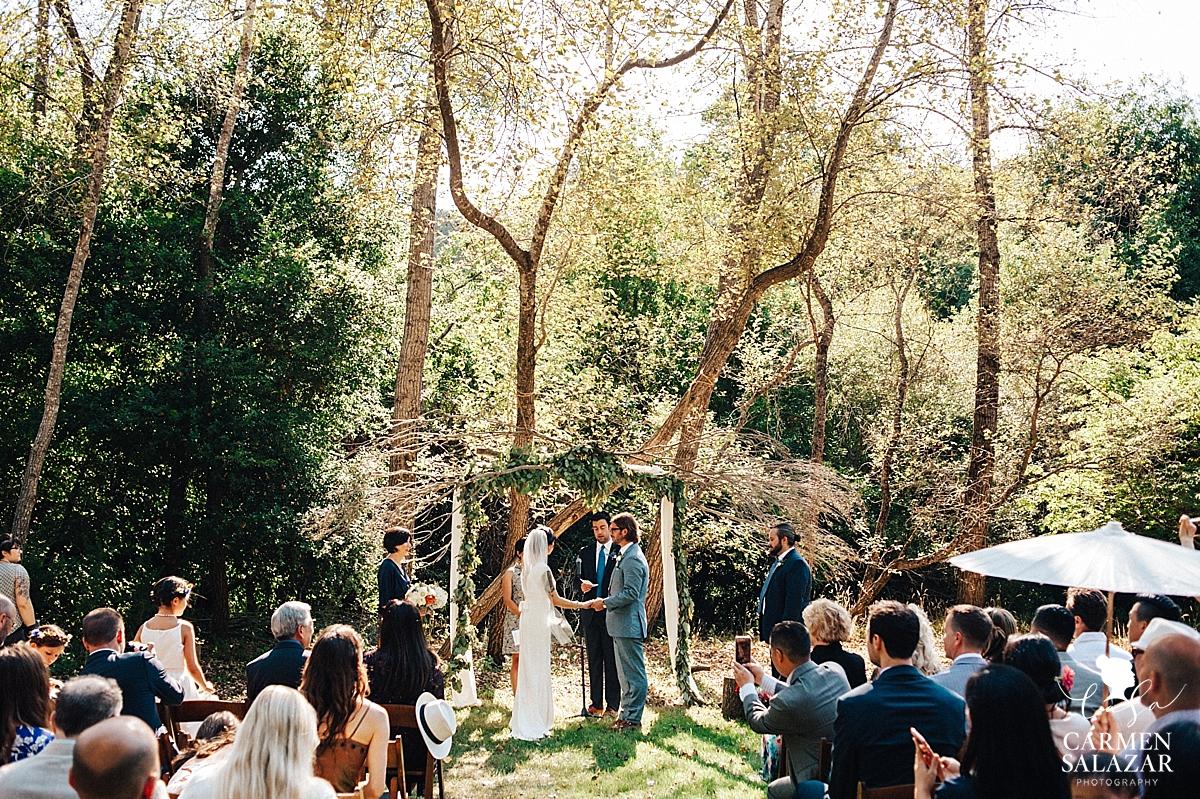 Intimate outdoor Santa Cruz estate wedding - Carmen Salazar