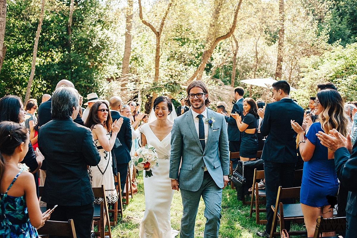 Newlyweds at gorgeous Santa Cruz summer ceremony - Carmen Salazar