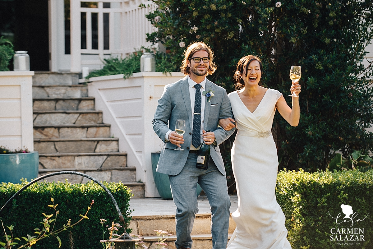 California newlyweds at Santa Cruz wedding reception - Carmen Salazar