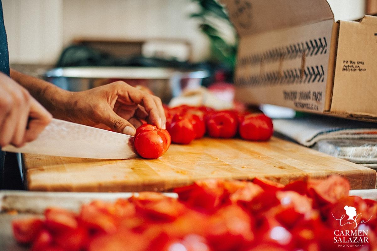 Farm to fork wedding cuisine details - Carmen Salazar