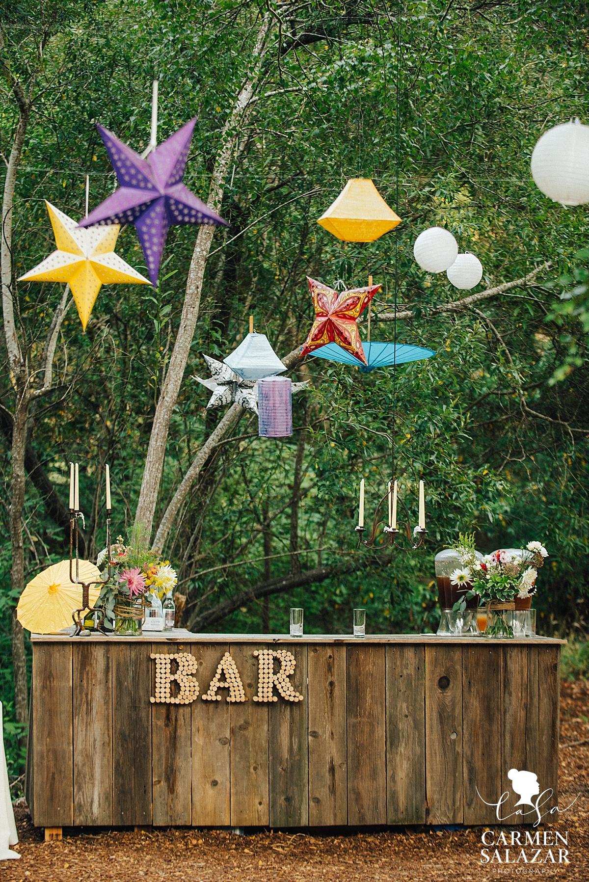 Modern and whimsical cocktail hour bar decor - Carmen Salazar