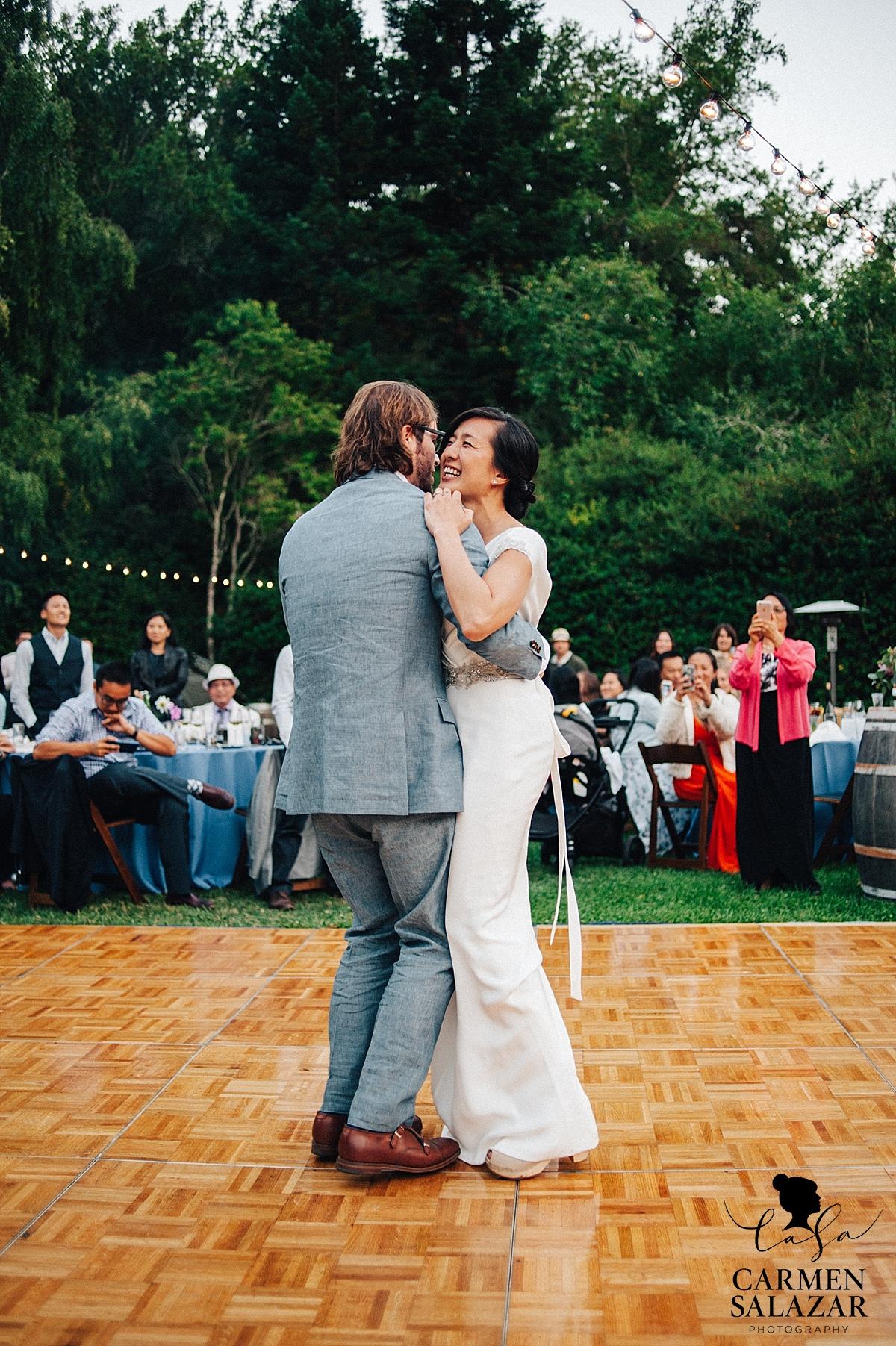 Happy Bay Area bride during first dance - Carmen Salazar