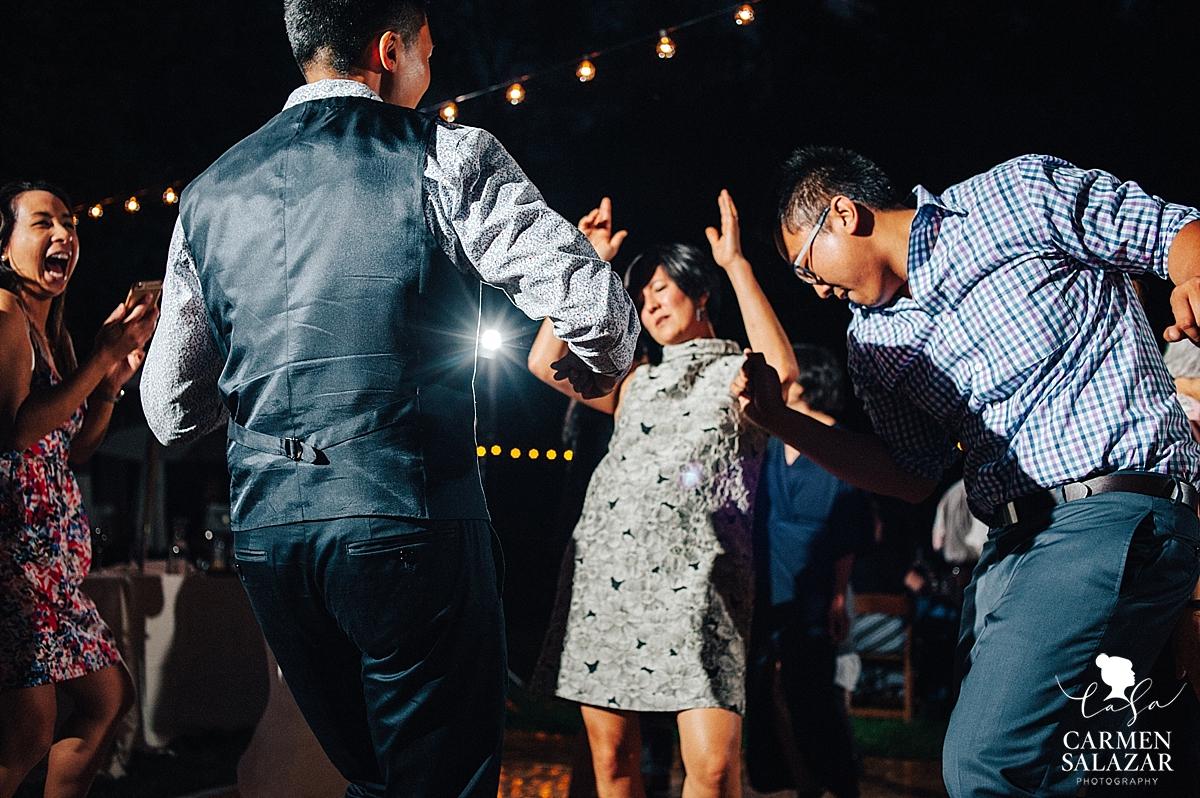 creative wedding dance floor night photography - Carmen Salazar
