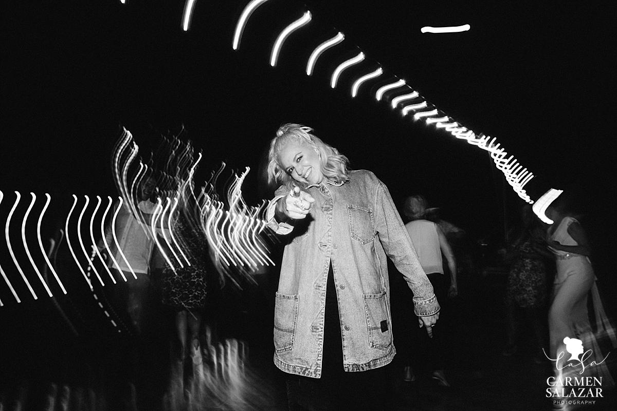 black and white photo of Retro style wedding dance moves - Carmen Salazar
