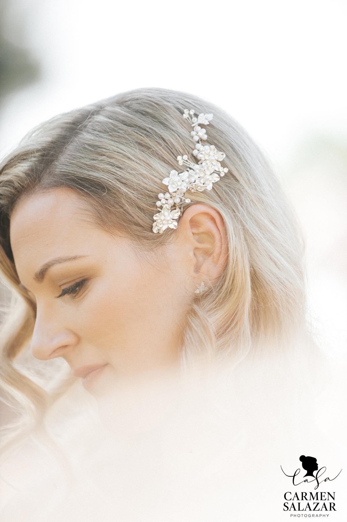 Sun-kissed bridal beauty photography - Carmen Salazar