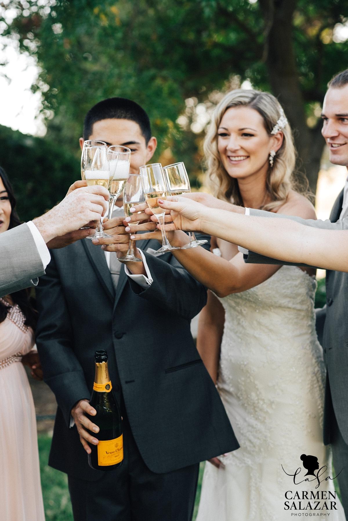 Champagne wedding toast before the ceremony - Carmen Salazar