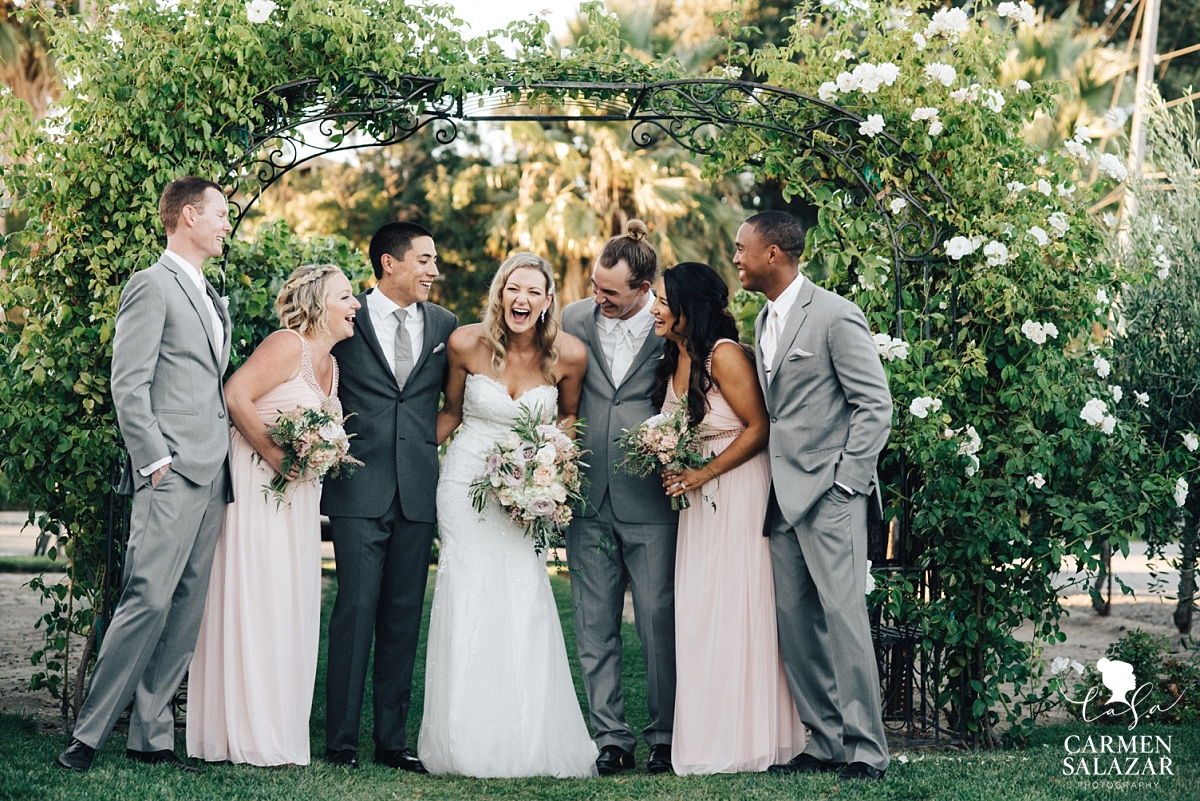 Sweet candid wedding party photos at Scribner Bend - Carmen Salazar