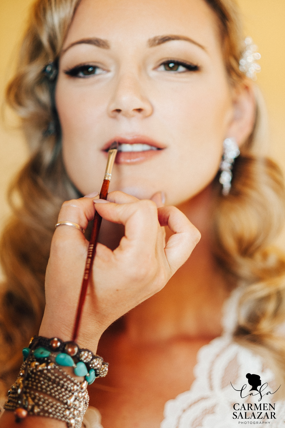 Vintage style bridal makeup and hair by Christi Reynolds