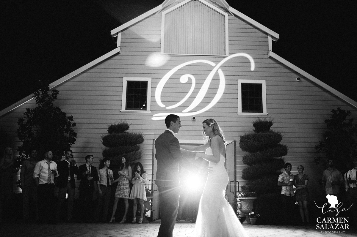 First dance at romantic California winery - Carmen Salazar