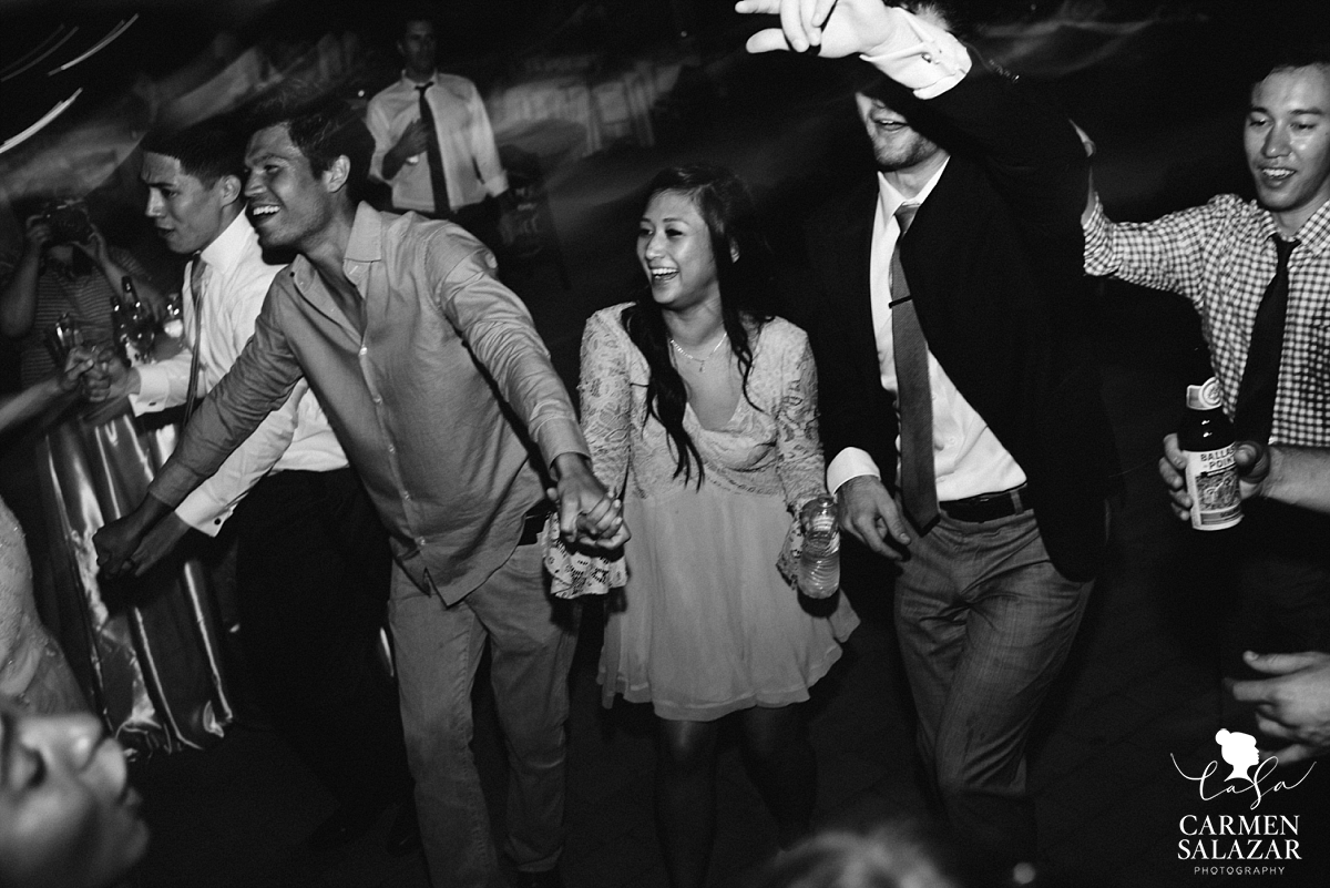 Wild dance floor at Scribner Bend Vineyards - Carmen Salazar