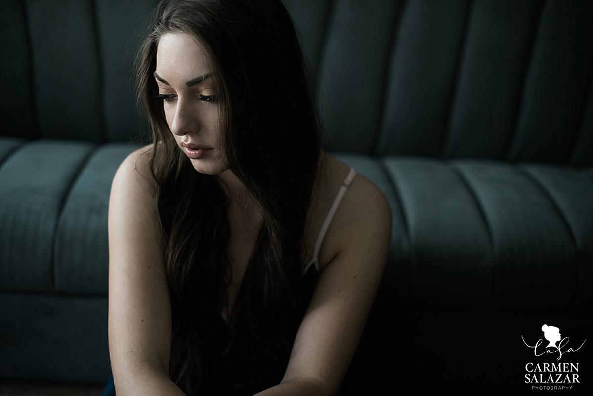 Sexy natural light Sacramento boudoir- Carmen Salazar