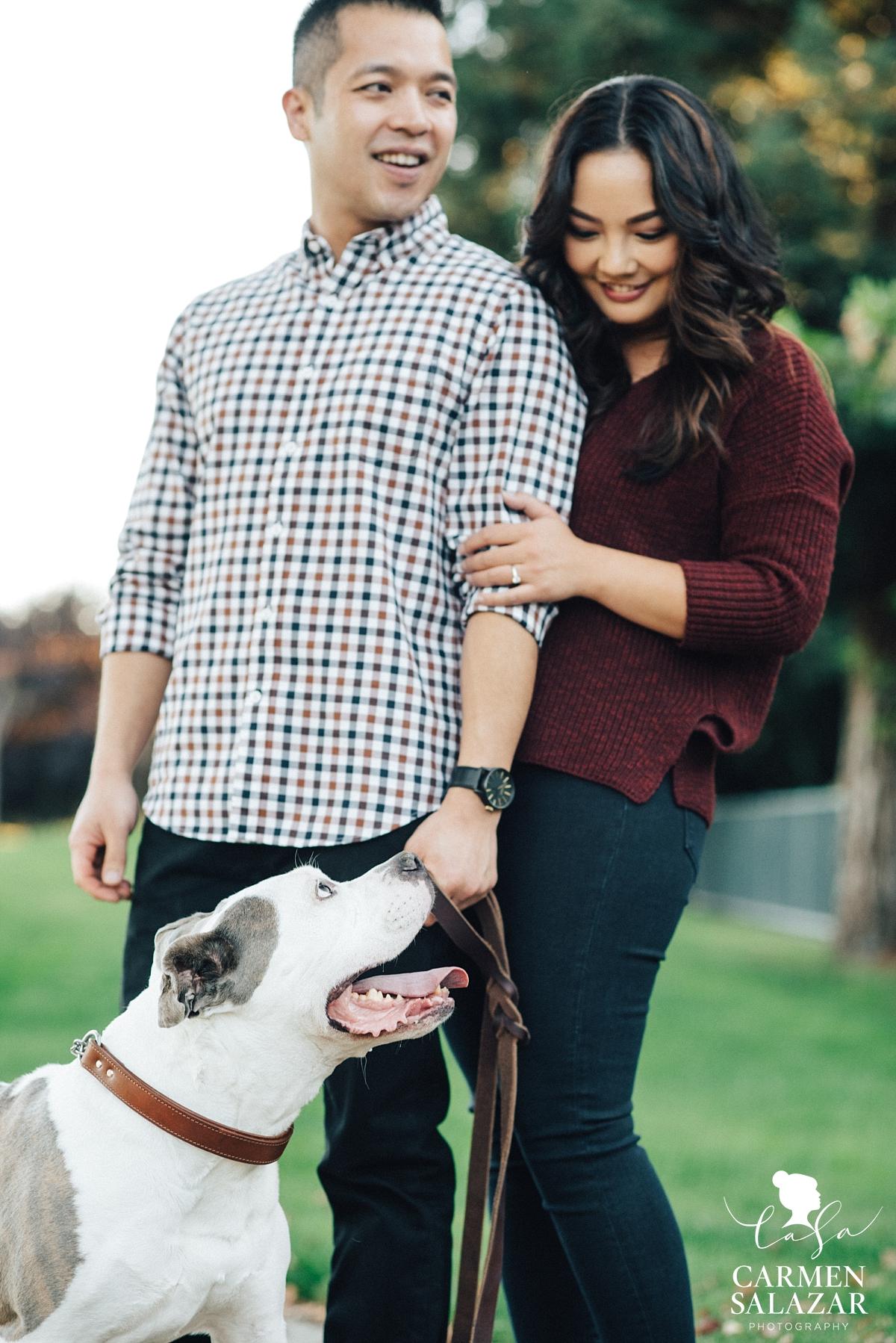 Sacramento engagement sessions with pets - Carmen Salazar