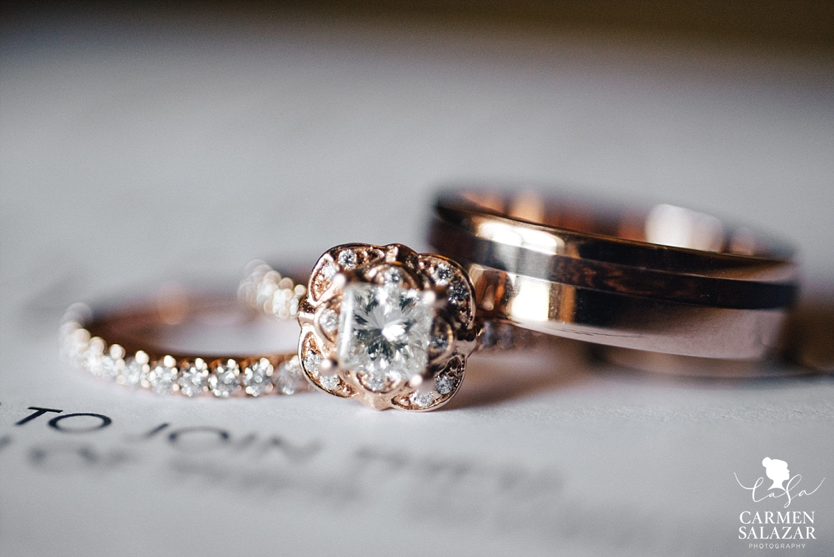 Beautiful vintage rose wedding rings - Carmen Salazar