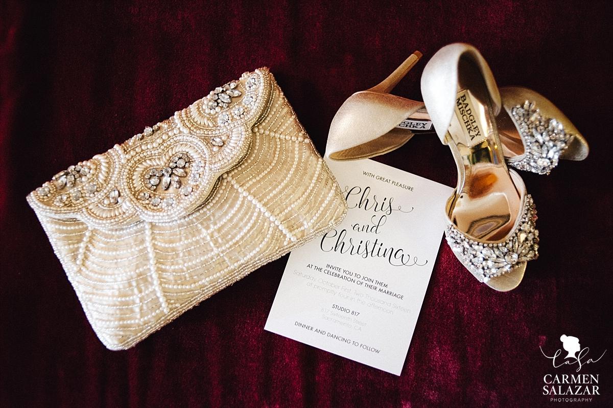 Glamorous rhinestone wedding accessories - Carmen Salazar