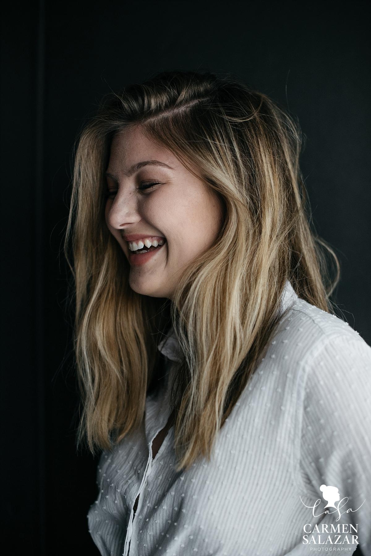 Playful teen modeling portraits - Carmen Salazar