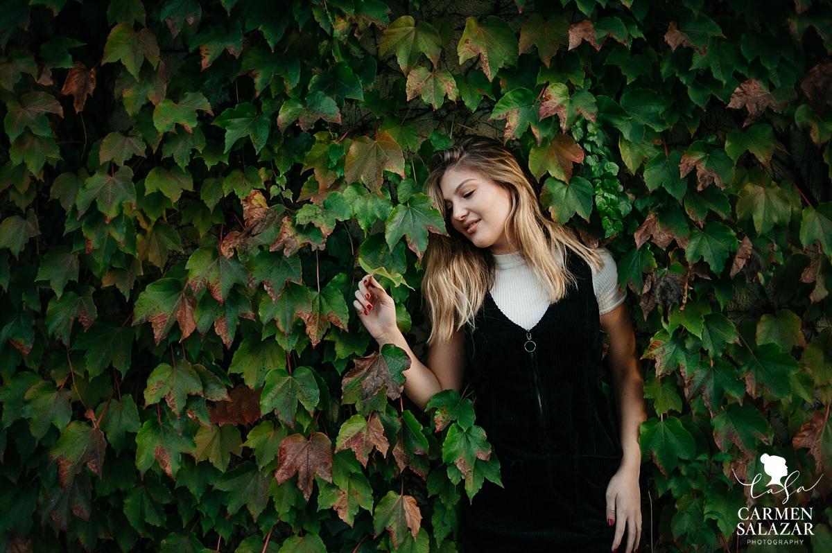 Creative outdoor California portrait session - Carmen Salazar