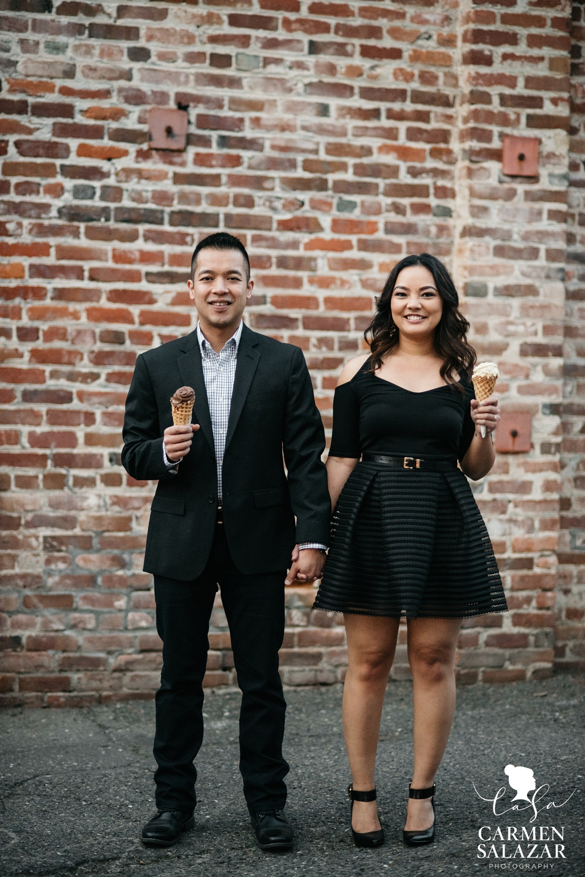 Gelato engagement session in Sacramento - Carmen Salazar
