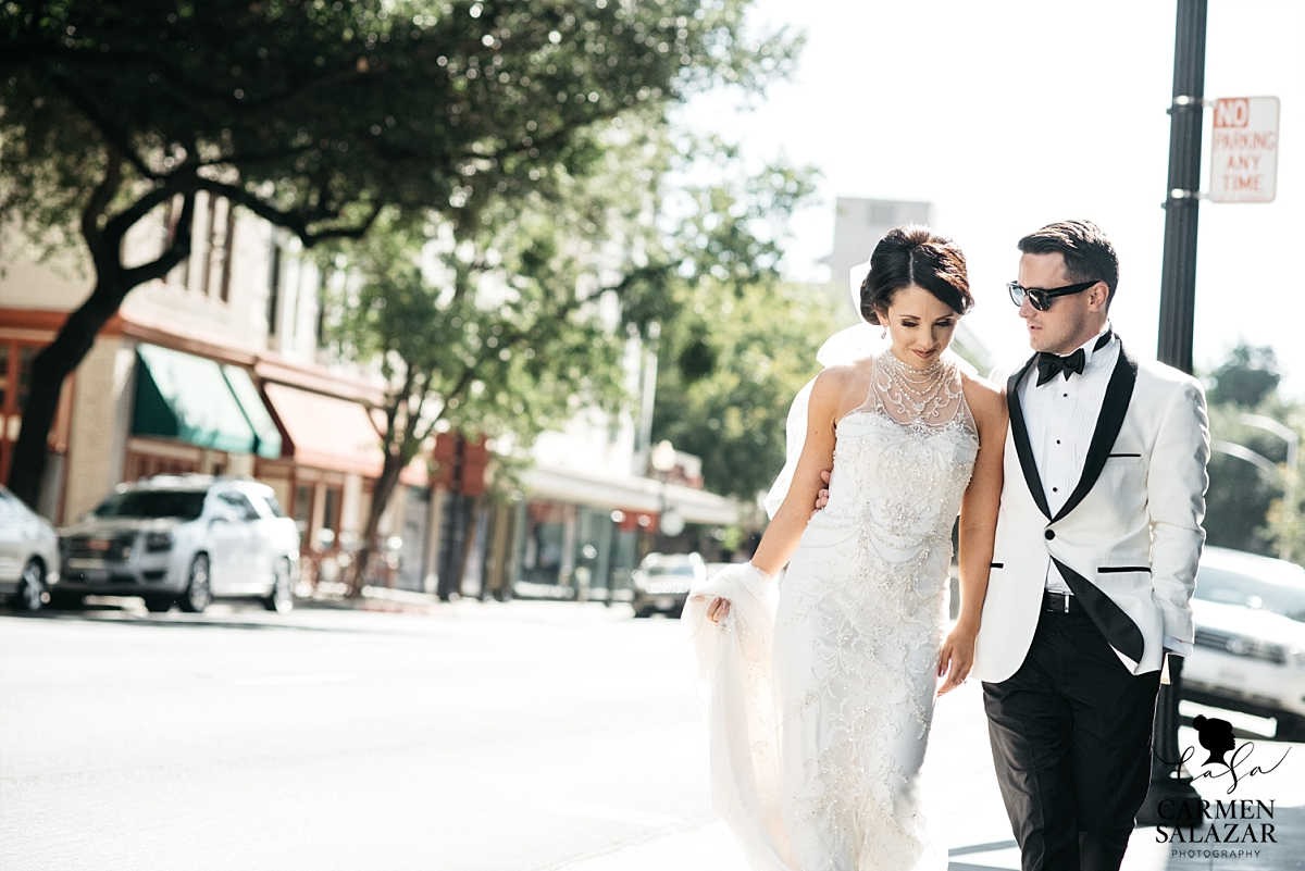 Urban bride and groom portraits in Downtown Sacramento - Carmen Salazar