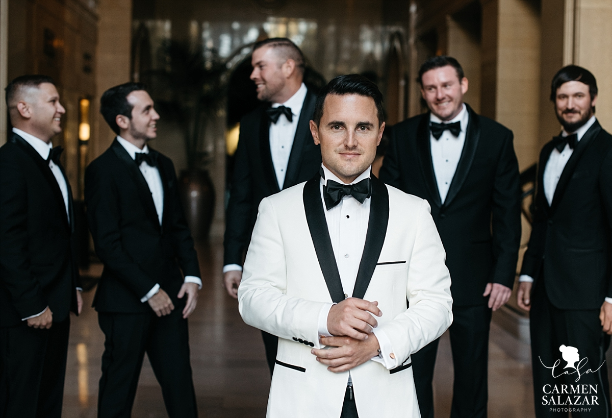 Classy groom with dapper groomsmen at Citizen Hotel - Carmen Salazar