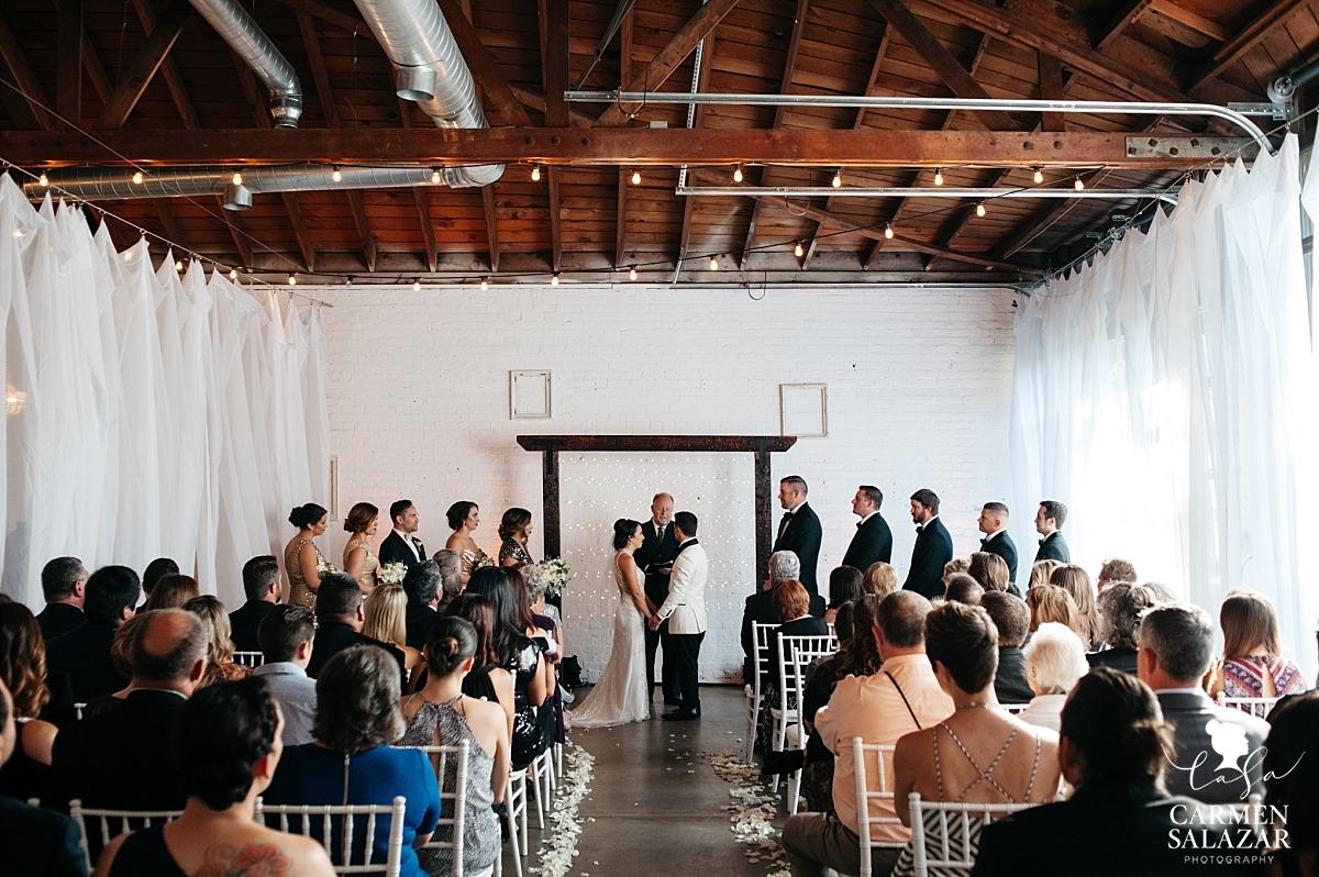 Intimate modern wedding ceremony at Studio 817 Sacramento - Carmen Salazar