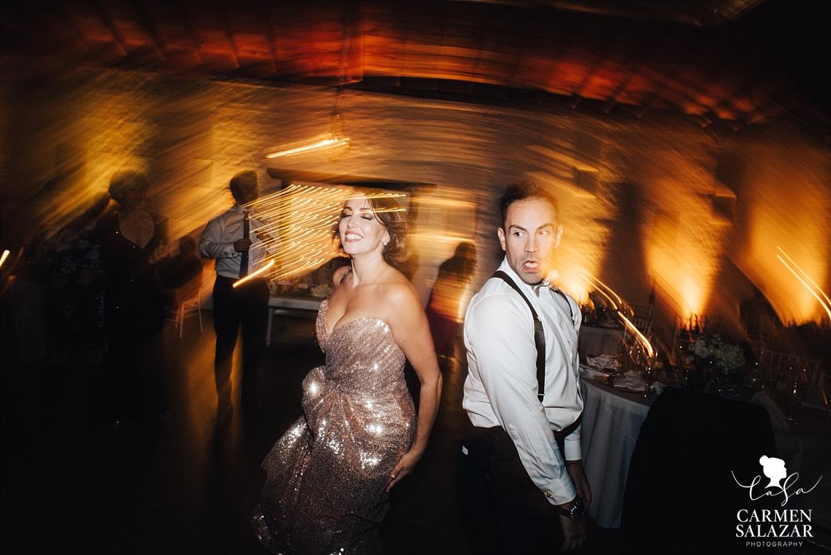Wedding party dancing at Studio 817 - Carmen Salazar