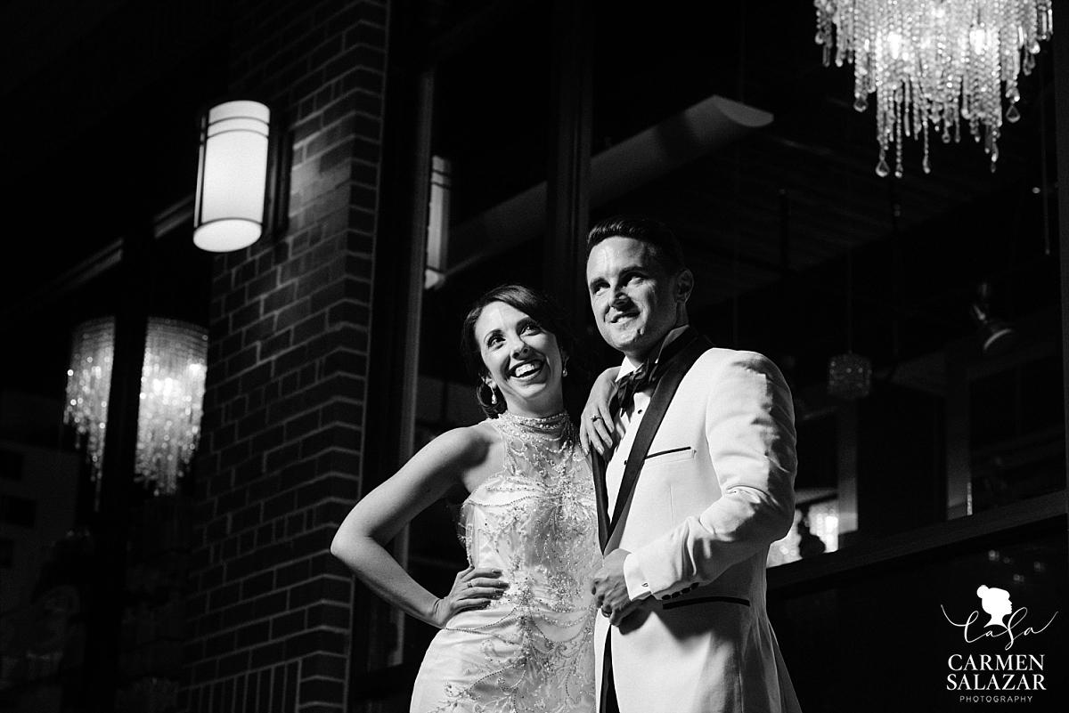 Vintage night downtown wedding portraits - Carmen Salazar