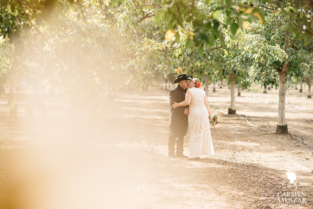 Sun kissed first look at California orchard property - Carmen Salazar