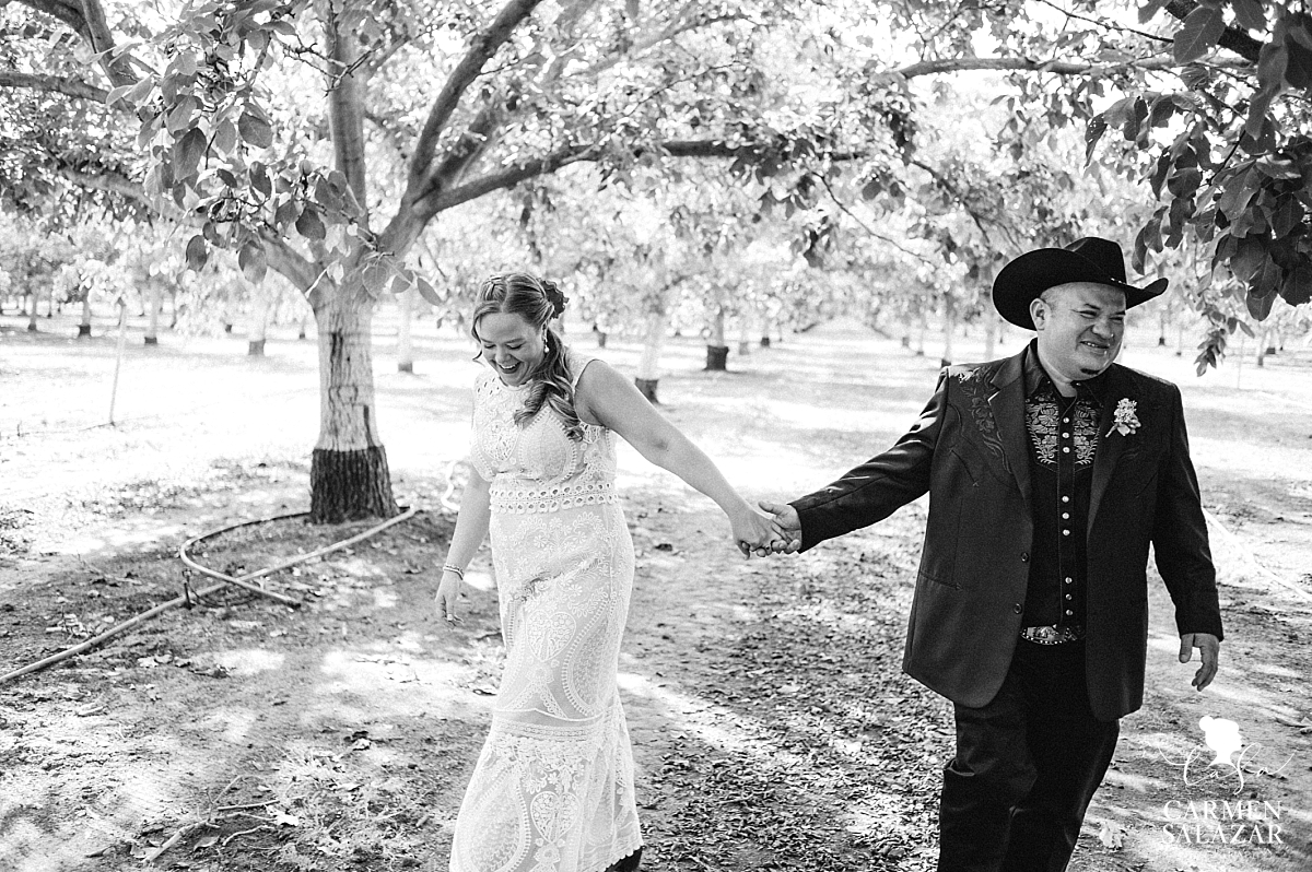 Mexican Californian style bride and groom - Carmen Salazar