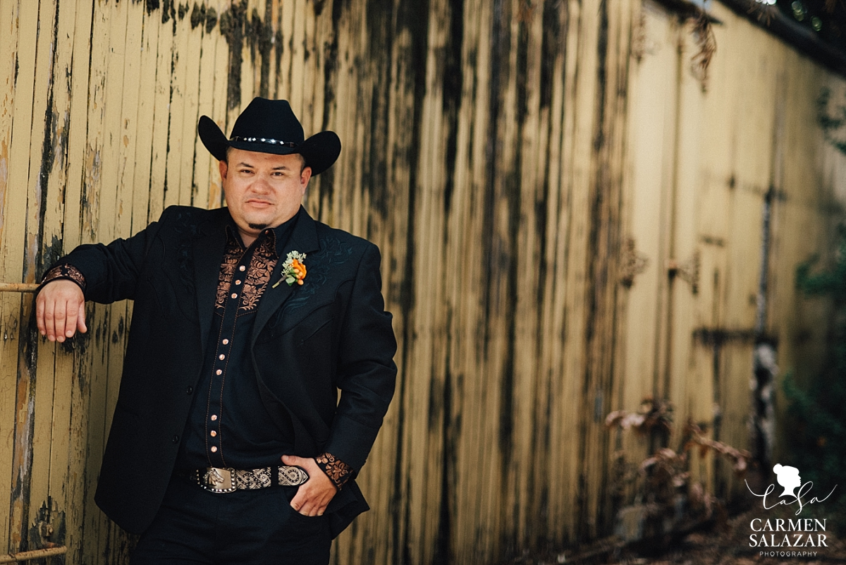 Mexican cowboy ranchero groom - Carmen Salazar