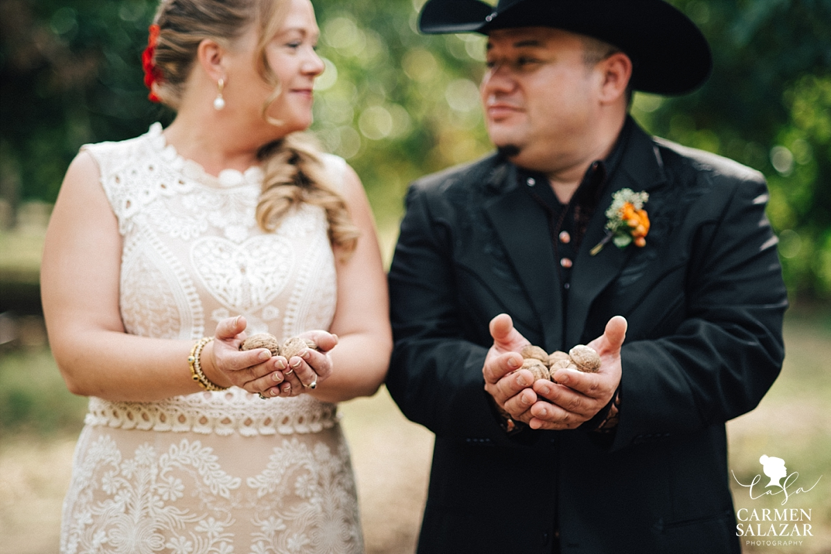 Walnut farm wedding outdoor portraits - Carmen Salazar