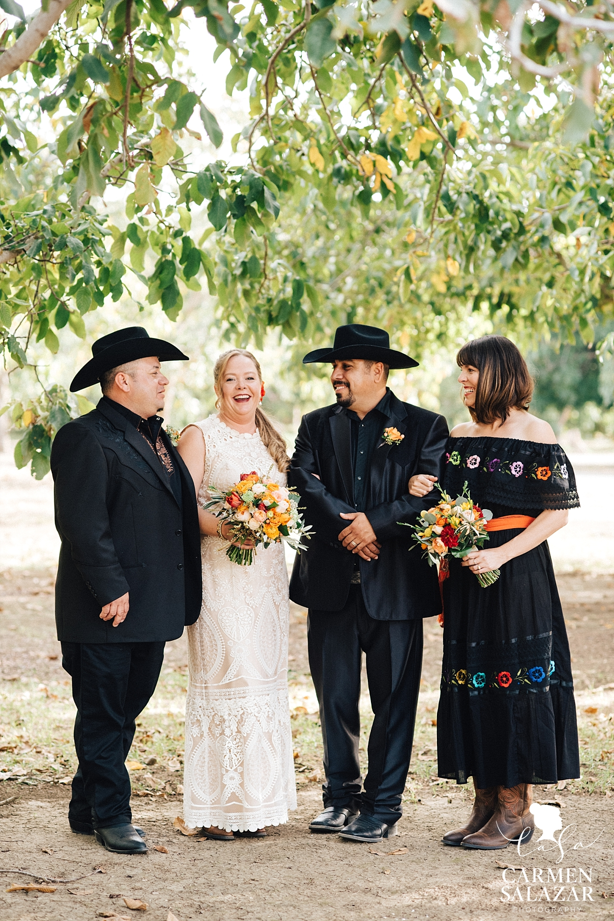 Intimate Mexican wedding party on farm - Carmen Salazar