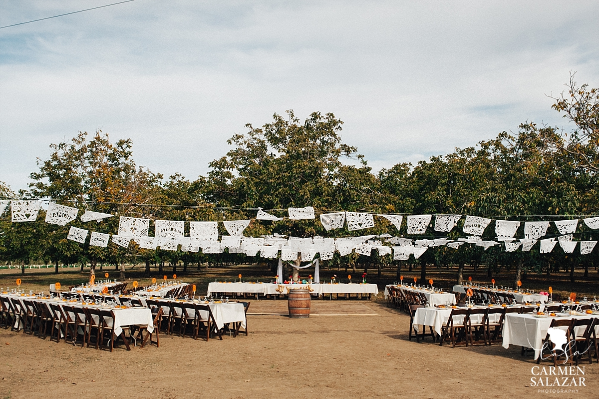 Beautiful DIY Day of the Dead wedding reception - Carmen Salazar