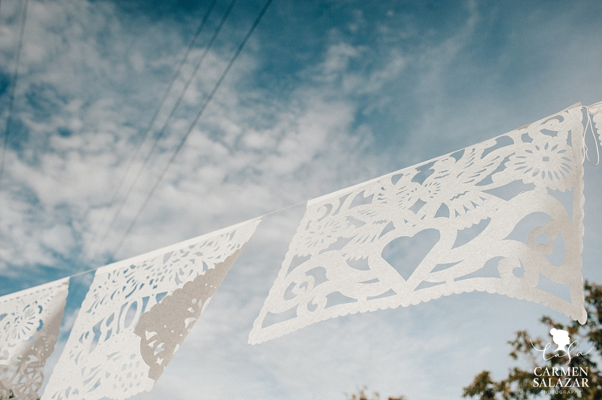 Mexican papeles wedding banner decorations - Carmen Salazar