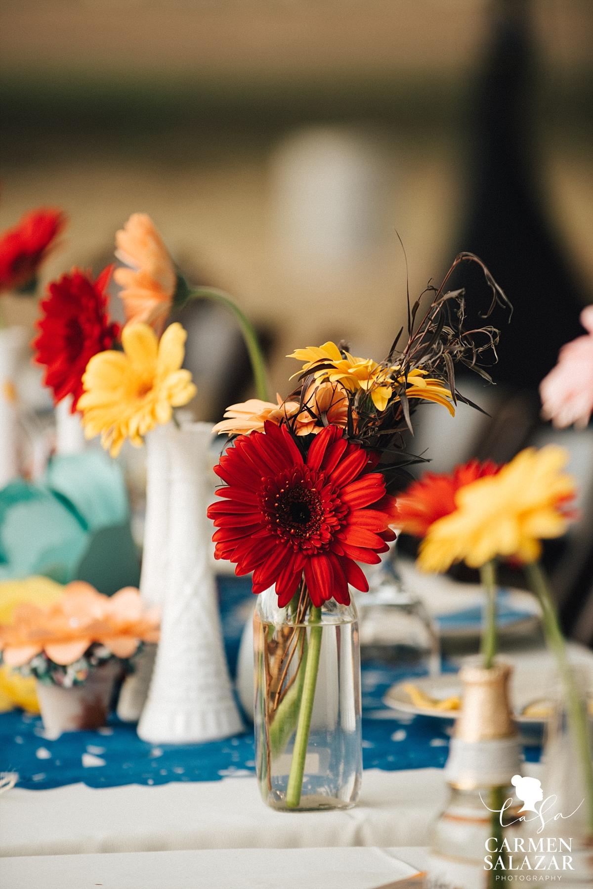 Fall wedding floral centerpieces at Mexican wedding - Carmen Salazar