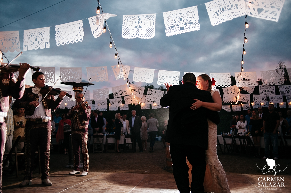 Mexican mariachi first dance at private estate - Carmen Salazar