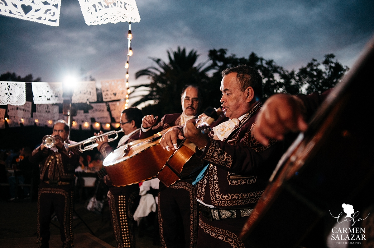 Mariachi Zacatecas playing at fall Winters wedding - Carmen Salazar