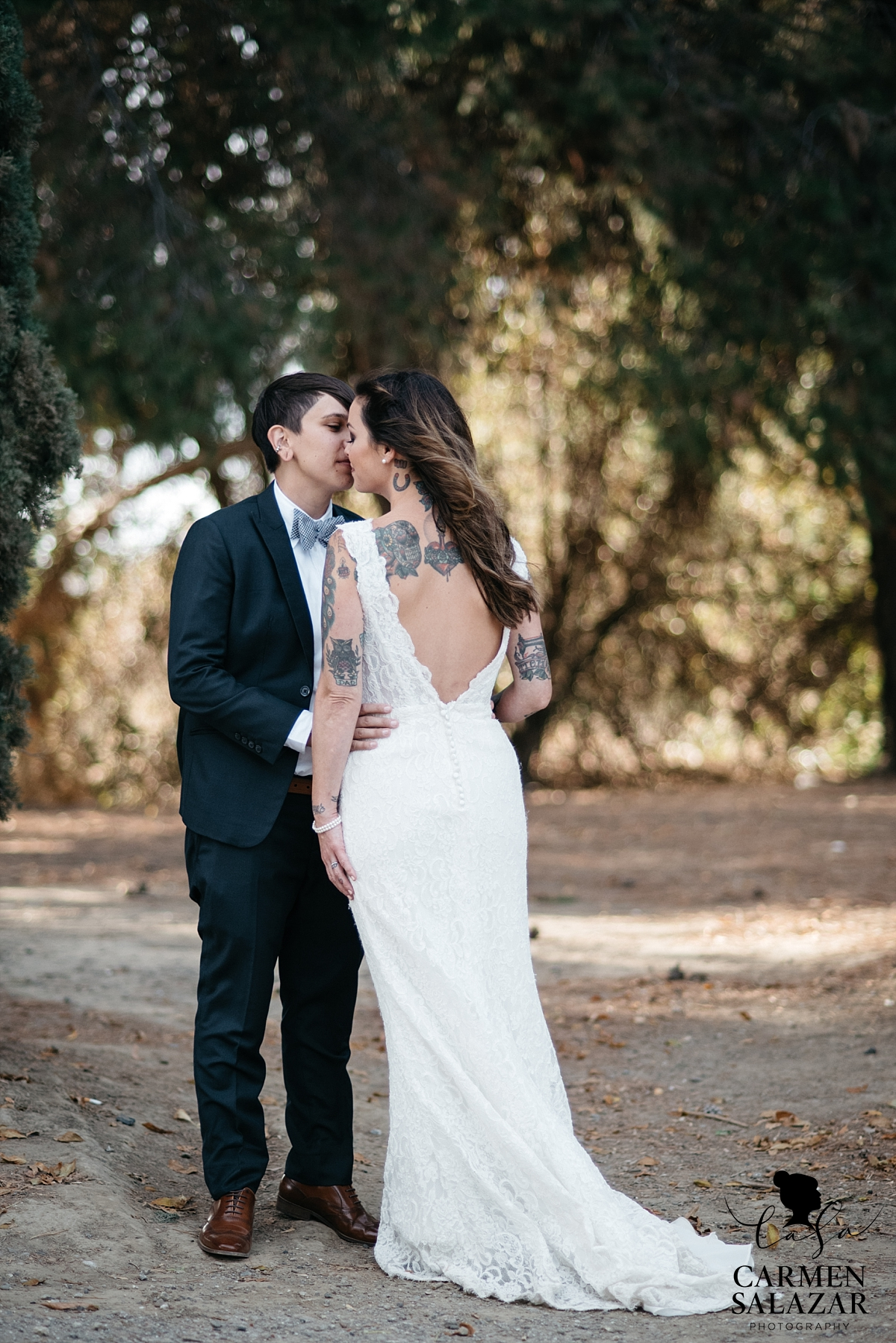LGBTQ California alternative wedding fashion - Carmen Salazar