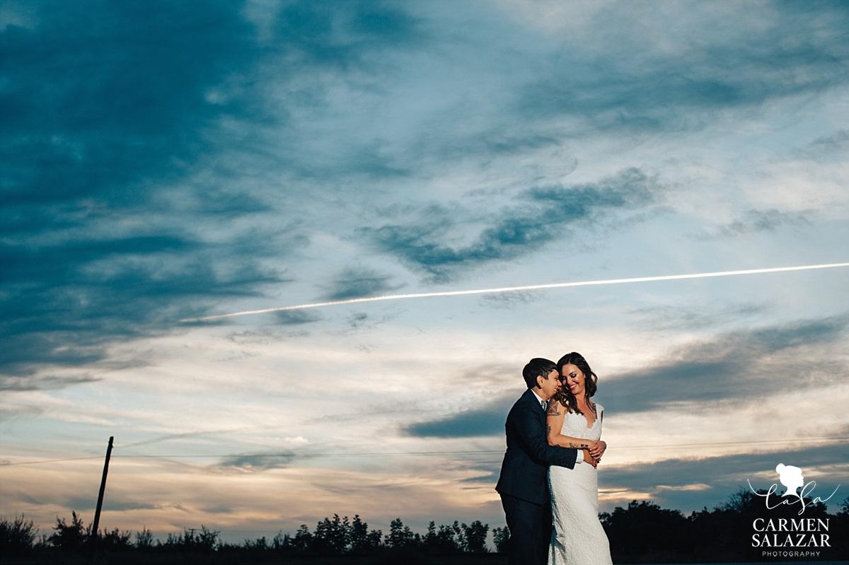 Epic Same Sex Wedding Sunset Photography - Carmen Salazar