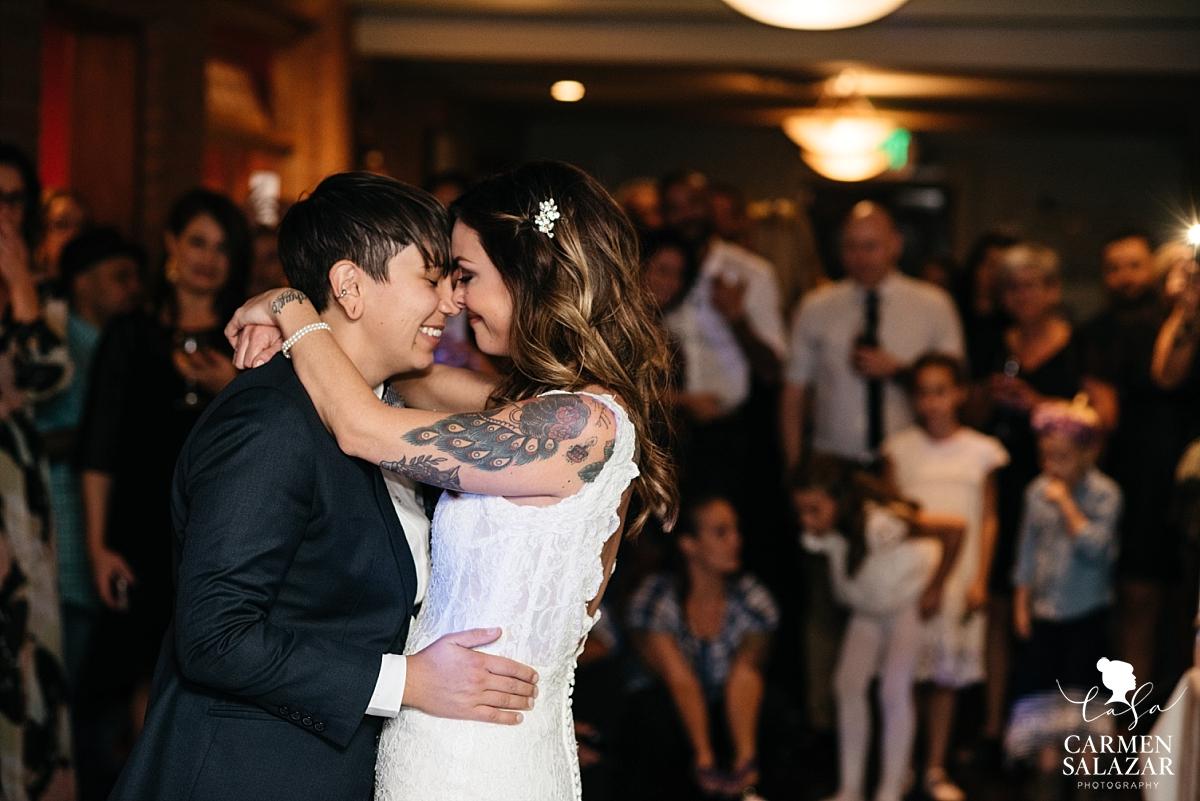 Lesbian first dance wedding photography - Carmen Salazar