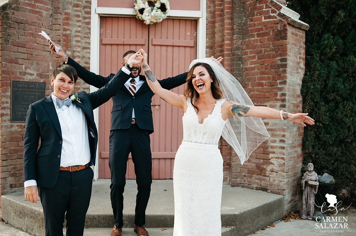 Overjoyed couple at same-sex wedding - Carmen Salazar