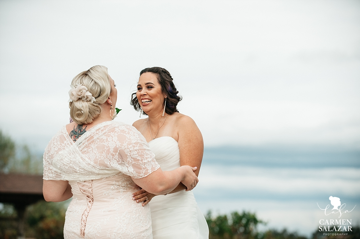 Emotional lesbian wedding first look - Carmen Salazar