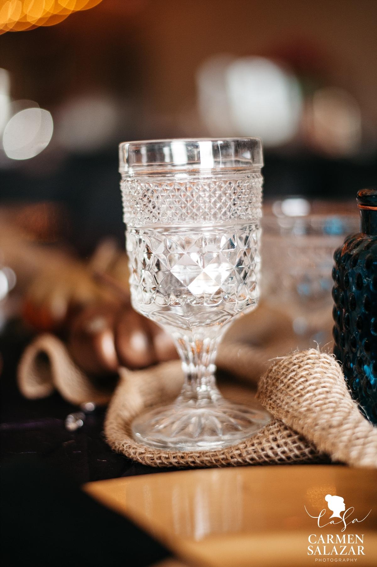 Elegant crystal wedding glassware - Carmen Salazar