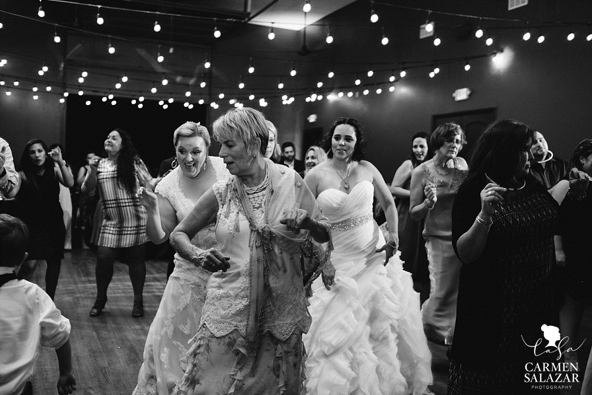 Same-sex wedding reception dance floor - Carmen Salazar